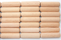 Background of wooden dowels Royalty Free Stock Photo