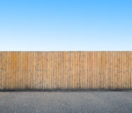 Background with wooden fence Stock Photography