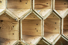Background of the wooden hexagons Royalty Free Stock Photography