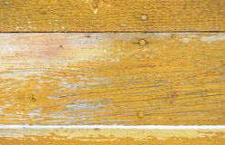 Background of wooden horizontal boards with peeling paint for your design Royalty Free Stock Image