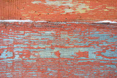 Background of wooden horizontal boards with peeling paint for your design Royalty Free Stock Photo