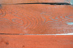 Background of wooden horizontal boards with peeling paint for your design Stock Photos
