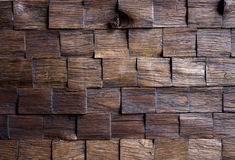 Background.wooden mosaic Stock Image