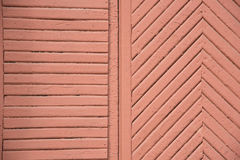Background of wooden painted in brown or red color strips. Detai Stock Photos