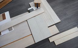 Background of the wooden panels Stock Images