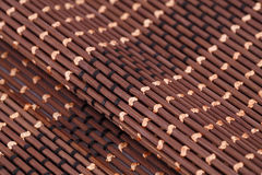 Background. Wooden placemat texture for background, close-up image Stock Photography
