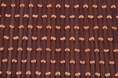 Background. Wooden placemat texture for background, close-up image Stock Image