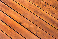 Background of wooden planks sloping Royalty Free Stock Photography