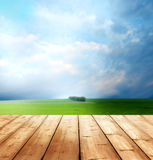 Background with wooden planks Royalty Free Stock Photos