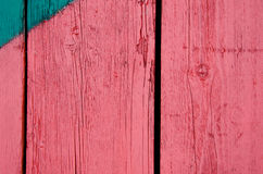 Background of wooden red paint board wall closeup Royalty Free Stock Image