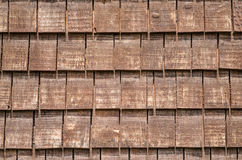 Background with wooden shingles Stock Photo