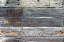 Background, Wooden Sleepers. Detail of a wall built from old wooden railroad sleepers suitable for use as a background or other abstract stock images