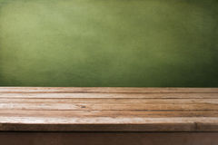 Background with wooden table Stock Image