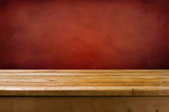 Background with wooden table Stock Photography