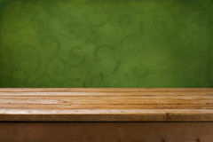 Background with wooden table Stock Photos