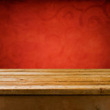 Background with wooden table Royalty Free Stock Photography