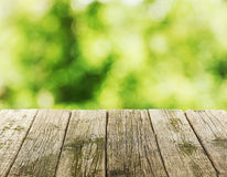 Background with the wooden table Stock Photos