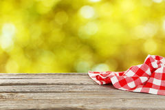 Background with a wooden table Royalty Free Stock Images