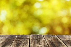 Background with the wooden table Royalty Free Stock Image