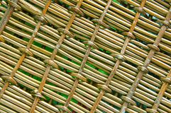 Background of wooden weaving Stock Photos