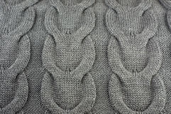 Background of wool knitted fabric Stock Photography