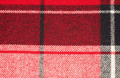 Background from a woollen checkered fabric Royalty Free Stock Photo