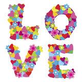 Background with the word Love vector illustration