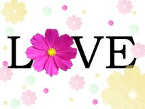 Background with word love Royalty Free Stock Photography