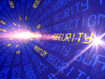 Background with the words into the distance leaving the security of privacy, etc Stock Photography