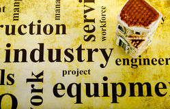 Background of words related to the construction Stock Photos