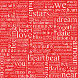 Background with words Royalty Free Stock Photography