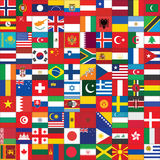 Background with world flag icons Royalty Free Stock Photo