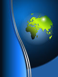 Background with world globe. Business background with world globe, vector Stock Photo