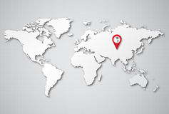 Background world map 3D Royalty Free Stock Photography