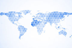 Background with world map Stock Photography