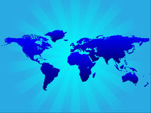 Background with worldmap Stock Photography