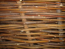 Background of woven branches Royalty Free Stock Image