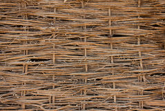 A background of woven twigs Royalty Free Stock Photography
