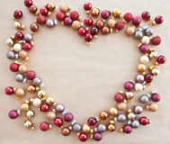 Background wth christmas baubles Stock Photos