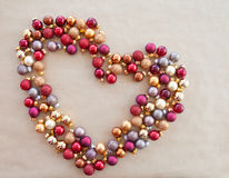 Background wth christmas baubles Royalty Free Stock Image