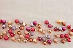 Background wth christmas baubles Stock Image