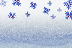 Background for x`mas with snowflakes Royalty Free Stock Image