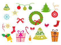 Background with xmas icons Royalty Free Stock Photography