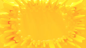 Background. Yellow abstract 3d rendered background Royalty Free Stock Photo