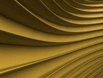 Background of yellow abstract waves. render Royalty Free Stock Photo