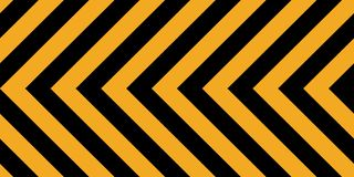 Background yellow black stripes, industrial sign safety stripe warning, vector background warn caution construction Stock Photography