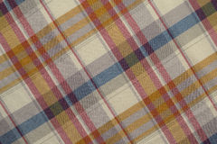 Blue and Beige Plaid Royalty Free Stock Image