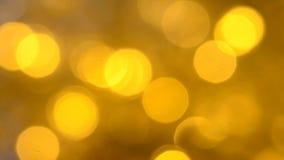 Background yellow bokeh stock video