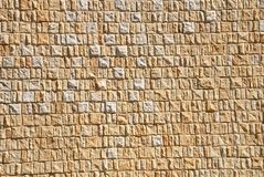 Background from yellow brick wall Royalty Free Stock Photos