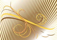 Background with yellow and brown curves. Backgroun Royalty Free Stock Images
